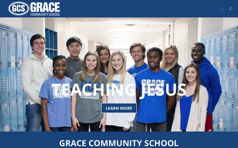 Screenshot of Home Page gracetyler.org - Grace Community School – Christian Private School Tyler TX - captured Sept. 5, 2017