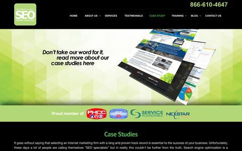Screenshot of Case Studies Page plumberseo.net - Plumbing & HVAC SEO Case Studies & Examples - Internet Marketing - captured July 14, 2016