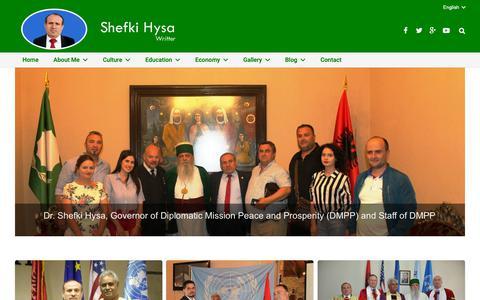 Screenshot of Home Page shefkihysa.com - Shefki Hysa - captured Oct. 28, 2018