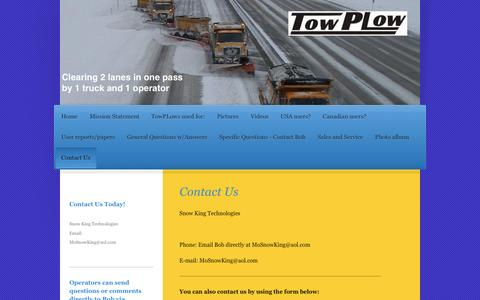 Screenshot of Contact Page towplow.com - TowPLow - Contact Us - captured April 28, 2017