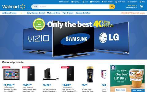 Screenshot of Home Page walmart.com - Walmart.com: Save money. Live better. - captured Oct. 19, 2015
