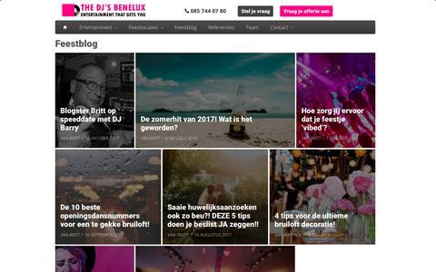 Screenshot of Blog thedjsbenelux.nl - Feestinspiratie: tips en tricks om jouw feest te laten slagen! - captured Oct. 22, 2017