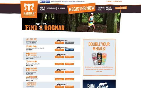 Screenshot of Locations Page ragnarrelay.com - Find Your Ragnar Event Location | Ragnar Relay Series - captured Feb. 17, 2016