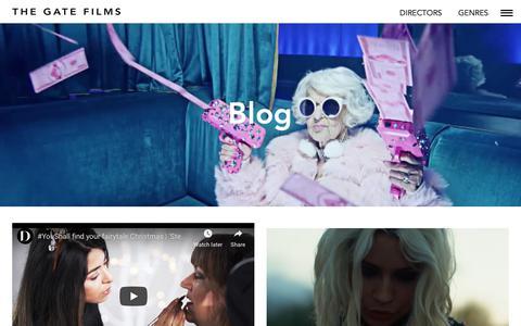 Screenshot of Blog thegatefilms.com - Blog - The Gate Films - captured Oct. 20, 2018