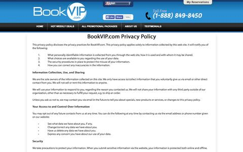 Screenshot of Privacy Page bookvip.com - BookVIP.com - Cheapest Vacation Packages To The Most Popular Destinations - captured Sept. 19, 2014