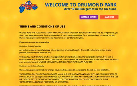 Screenshot of Terms Page drumondpark.com - Contact Drumond Park - captured Oct. 9, 2018