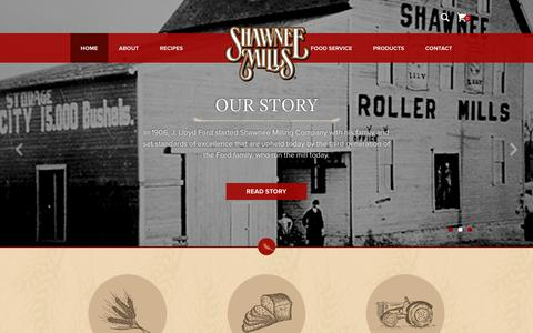 Screenshot of Home Page shawneemilling.com - Shawnee Milling Company | Milling Products | MIO - captured June 30, 2018