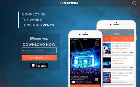 Screenshot of Team Page unation.com - UNATION - Connecting the World Through Events. - captured Aug. 2, 2015
