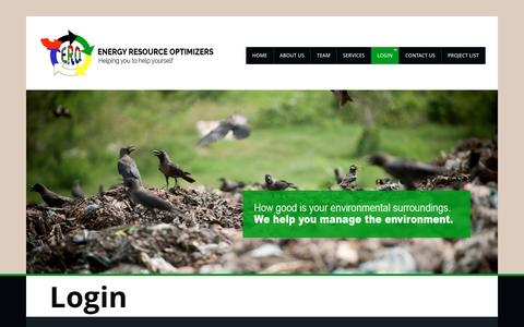 Screenshot of Login Page energyoptimizers.co.za - Login | ERO - captured Nov. 8, 2016