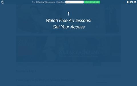 Screenshot of Login Page webartacademy.com - Members Login - Web Art Academy | Web Art Academy - captured Sept. 23, 2018