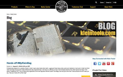 Screenshot of Blog kleintools.com - Blog   Klein Tools - For Professionals since 1857 - captured Aug. 10, 2018