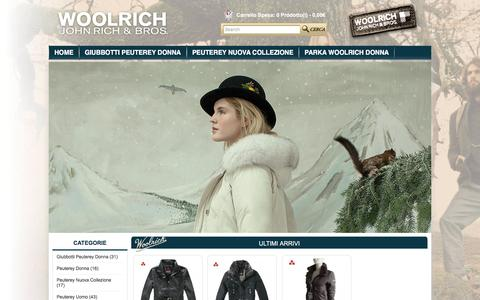 Screenshot of Home Page mattsgames.it - Spaccio Woolrich Bologna - Parka,Giubbotti Woolrich Donna e Uomo Outlet Online - captured Dec. 5, 2015