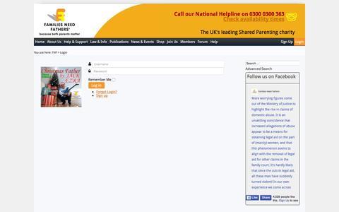 Screenshot of Login Page fnf.org.uk - Login - captured Feb. 9, 2016