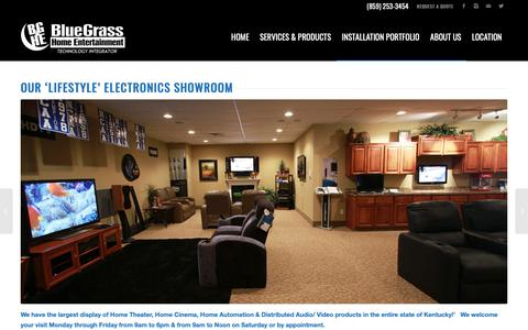 Screenshot of About Page bghe.com - BGHE Home Theater Showroom - captured Oct. 6, 2018