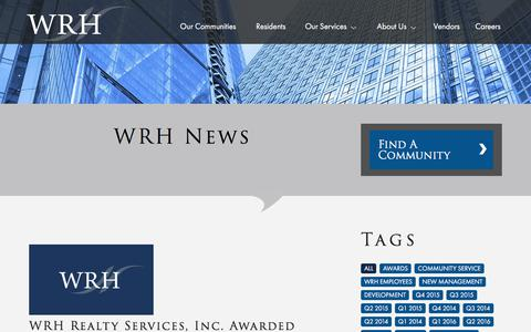 Screenshot of Press Page wrhrealty.com - WRH Realty Services, Inc | Press - captured Nov. 4, 2017