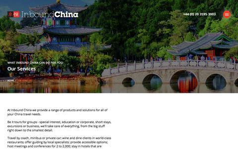 Screenshot of Services Page inboundchina.com - Services   Inbound China - captured Aug. 7, 2018