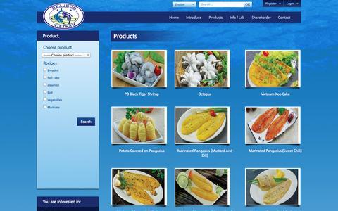 Screenshot of Products Page seajoco.vn - SJ1 | Seajoco – Seafood Joint Stock Company No. 1 - captured Sept. 30, 2014