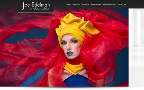 Screenshot of Home Page joeedelman.com - Allentown Photographer Joe Edelman - Advertising Photography - captured Sept. 19, 2014