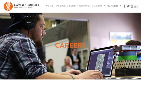 Screenshot of Jobs Page l-s.com - Advertising Agency Jobs at Lawrence & Schiller - captured Jan. 26, 2016