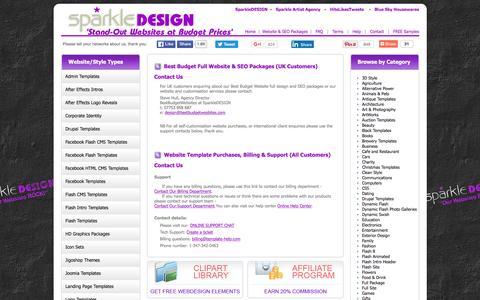 Screenshot of Contact Page bestbudgetwebsites.com - Best Budget Websites and Website Templates at SparkleDESIGN - Contact Us - captured June 11, 2016