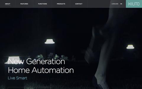 Screenshot of Home Page kiuto.com - KIUTO Home and Building Automation - captured Jan. 9, 2016