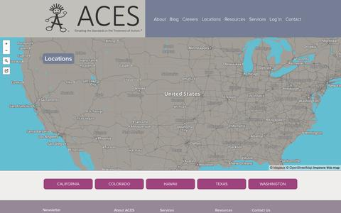 Screenshot of Locations Page acesaba.com - Locations | ACES - captured Feb. 4, 2016