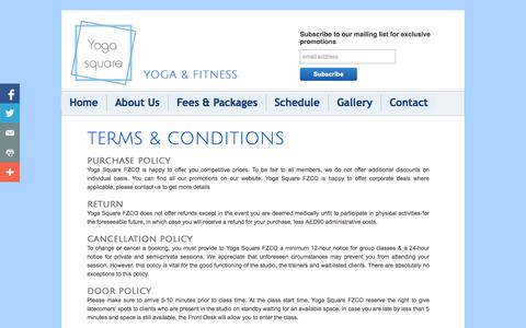 Screenshot of Terms Page yogasquare-me.com - Yogasquare-me: Terms & Conditions - captured Oct. 7, 2014