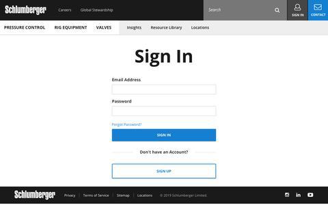 Screenshot of Login Page slb.com - | ProductsSLB - captured Dec. 30, 2019
