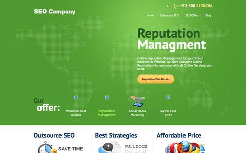 Screenshot of Home Page seo-company.pk - SEO Company - Search Engine Optimization Company - captured Oct. 3, 2014