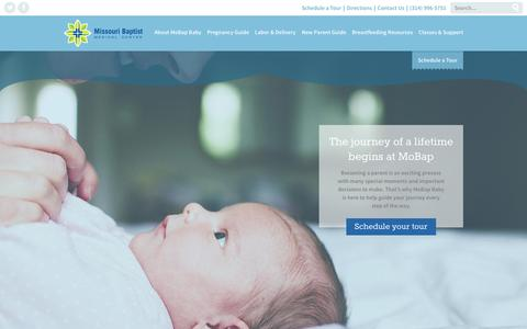 Screenshot of Home Page mobapbaby.org - MoBap Baby > Home - captured Sept. 6, 2015