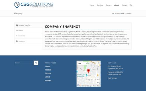 Screenshot of About Page Team Page csg-isr.com - CSG |   Company - captured April 26, 2018