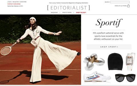 Screenshot of Home Page editorialist.com - Editorialist | Luxury Fashion Accessories Magazine & Online Store - captured Dec. 14, 2015
