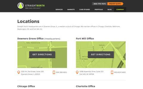 Screenshot of Locations Page straightnorth.com - Locations - captured Jan. 6, 2016