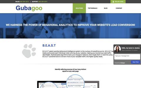 Screenshot of Products Page gubagoo.com - B.E.A.S.T - Gubagoo.com - captured Dec. 31, 2016