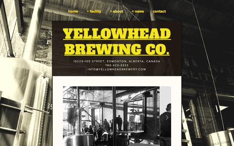 Screenshot of Hours Page yellowheadbrewery.com - Brewery Tours — YELLOWHEAD BREWING CO. - captured Feb. 13, 2016