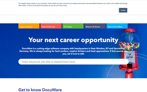 Screenshot of Jobs Page docuware.com - Find Your Next Career at DocuWare | DocuWare Careers United States - captured Feb. 13, 2019