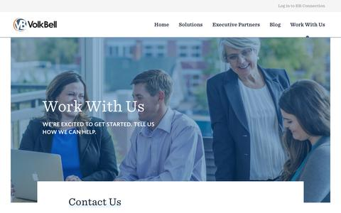 Screenshot of Contact Page volkbell.com - Work With Us   VolkBell - captured Oct. 22, 2017