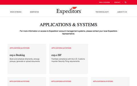Our Systems |Technology | Expeditors International of Washington, Inc.