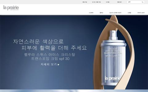 Screenshot of Home Page la-prairie.co.kr - La Prairie | Luxury Anti-Aging Products | Home - captured June 14, 2016