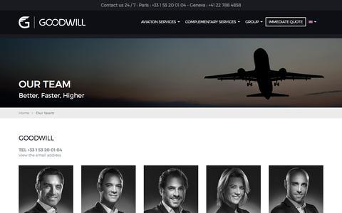 Screenshot of Team Page goodwill.fr - GOODWILL contact details - captured Sept. 26, 2018