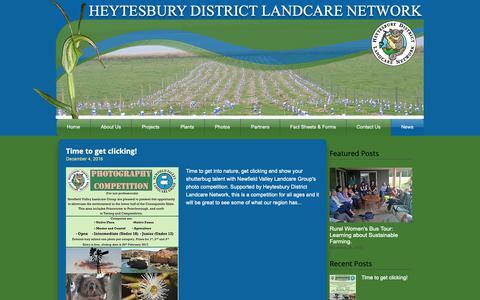 Screenshot of Press Page heytesburylandcare.org.au - heytesburylandcare | News - captured Sept. 28, 2018