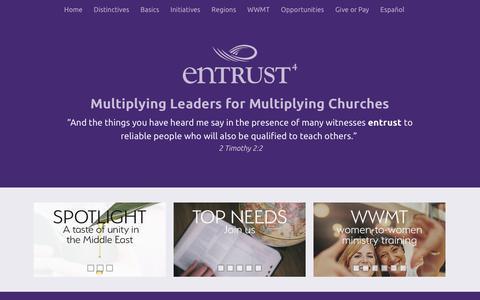 Screenshot of Home Page entrust4.org - Entrust Home - captured Sept. 28, 2018