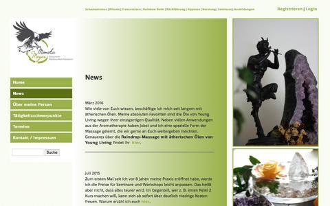 Screenshot of Press Page reiki-schamane.de - News   Monika Meyer - captured June 11, 2016