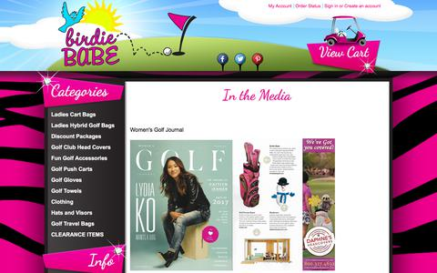 Screenshot of Press Page birdiebabegolf.com - Birdie Babe Golf Bags in the news. - captured Aug. 2, 2018