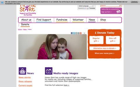 Screenshot of Press Page home-start.org.uk - News from Home-Start UK - captured Oct. 2, 2014