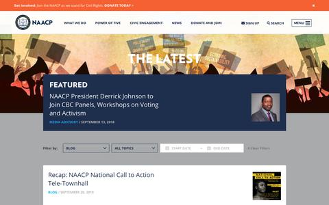 Screenshot of Blog naacp.org - NAACP | Blog Archives - captured Sept. 21, 2018