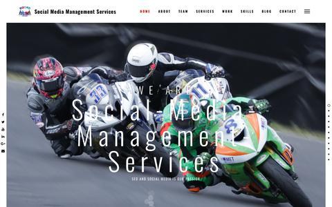 Screenshot of Home Page social-media-management-services.com - Social Media Management Services – Social Media Tips - captured Sept. 20, 2018