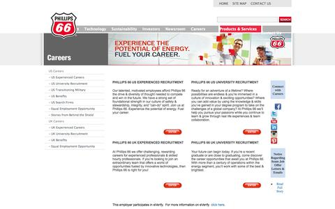 Screenshot of Jobs Page phillips66.com - Careers - captured Sept. 19, 2014