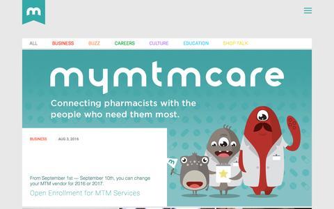 Screenshot of Press Page mymtmcare.com - News — MTMCare - captured Nov. 18, 2016