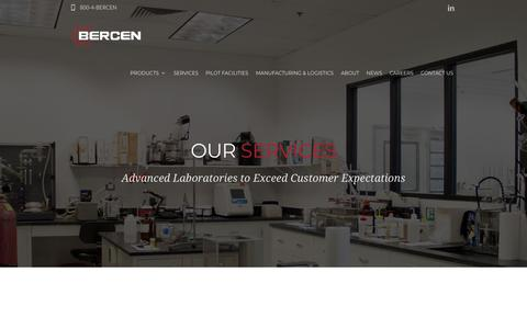Screenshot of Services Page bercen.com - Product Development - Analytical Services - Bercen - captured Oct. 5, 2018